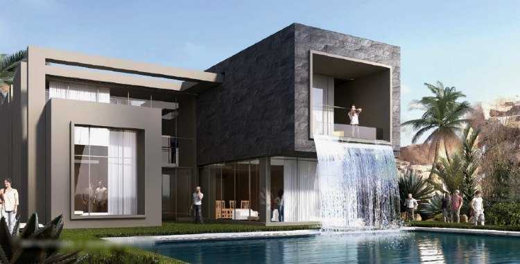 Waterfall Villa in Sky City Al Jalalah