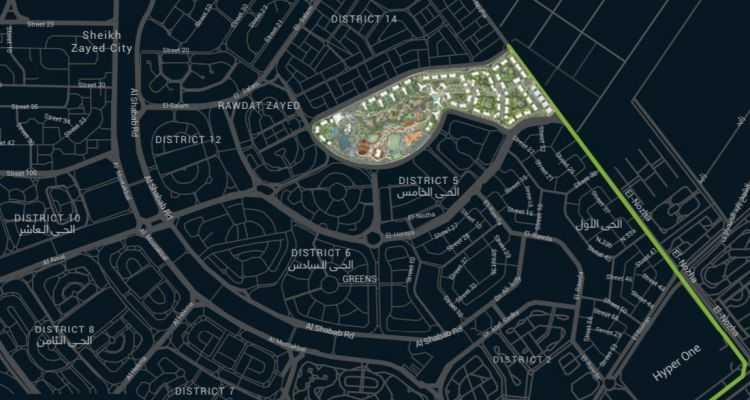 خريطة كمبوند ابراج زد الشيخ زايد
