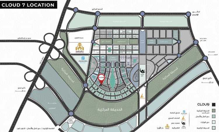 خريطة مول كلاود 7 بيزنس كومبليكس
