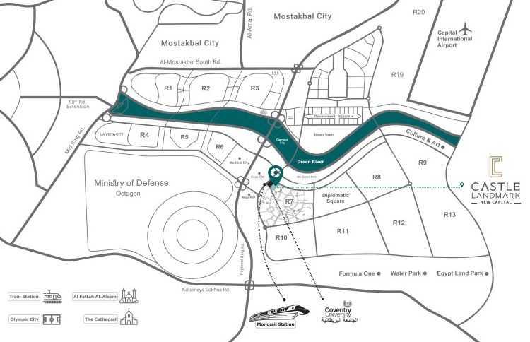 خريطة كمبوند كاسيل لاند مارك