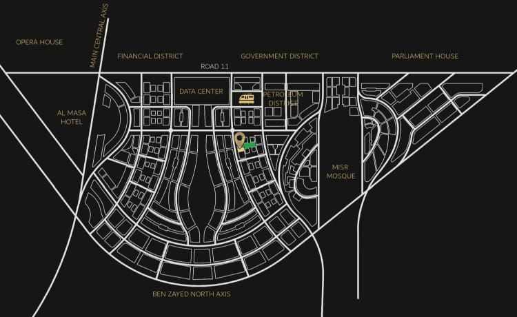 خريطة كانيون تاور العاصمة الادارية